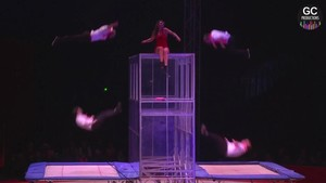 Festival International du Cirque 2016 - Numéro Catwall - double trampoline